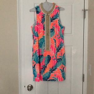 Lilly Pulitzer, Multi Color Pineapple Shift Dress